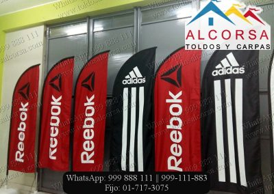 Banderas tipo pluma Alcorsa Perú