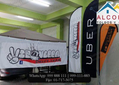 Banderas tipo pluma Productos Alcorsa Perú
