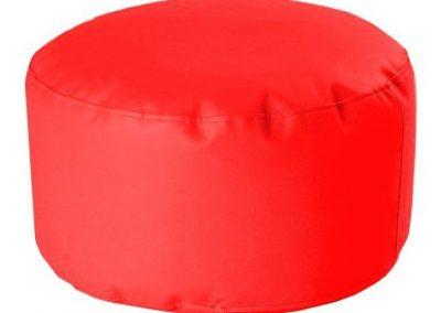 Puff Cilindro Taburete Rojo