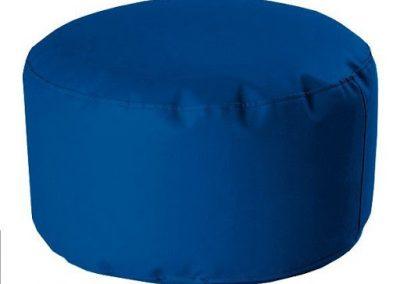 Puff Cilindro Taburete Azul