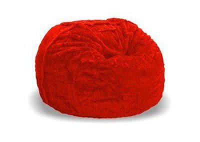 Puff Peluche Rojo