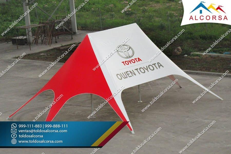 Banderas tipo gota Toldos Alcorsa